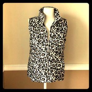 Loft, size small, leopard print puffer vest